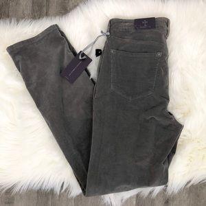 NYDJ Gray Corduroy Skinny Pants